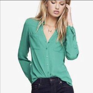 Express Portofino Blouse Minty Green